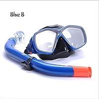 Gafas De Buceo Tubo De RespiracióN Estudiantes Traje De Snorkel , blue , B