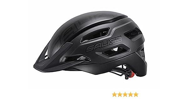 54-60 Bianco-Nero Unisex Adulto Salice Casco Bike XL TG
