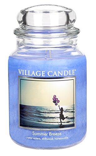 Village Candle - Candela profumata grande, 17 x 10 cm, 1219 g, aroma: Summer Breeze, fino a 170 ore di autonomia