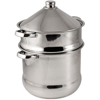 Baumalu 340971 pentola per cous cous tajine in acciaio for Cucinare cous cous