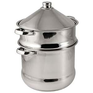 Baumalu 340971 - Pentola per cous cous / Tajine, in acciaio INOX, 14 L