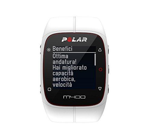 Polar M400 - Reloj de entrenamiento con GPS integrado y registro de actividad, color blanco