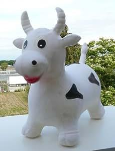 Hüpftier Hüpfkuh kuh in weiß