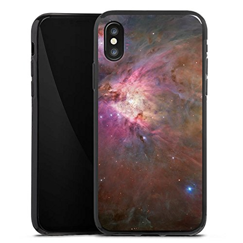 Apple iPhone X Silikon Hülle Case Schutzhülle Galaxy Muster Orion Nebel Silikon Case schwarz
