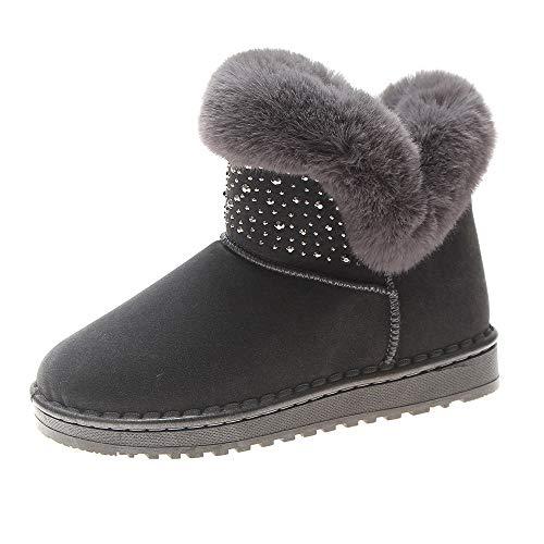 UFACE Damen Winterschuh Round Toe Keep Warm Cotton Stiefel Martin Short  Snow Boots 3ae438d14b