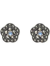 Esse Marcasite Pendientes de botón Mujer plata - 214E8155-05