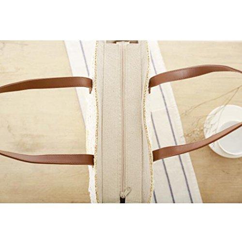 FAIRYSAN , Borsa da spiaggia Uomo Beige Beige with narrower fringes large Beige with narrower fringes