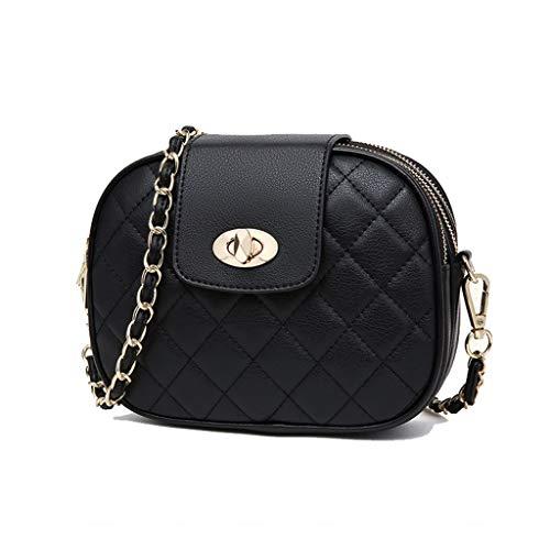 YANFEI PU-Crossbody-Bag weibliche rautenförmige Wild Chain Damen Tasche Schultertasche (Farbe :...