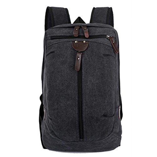 Student Pack Canvas Rucksack Casual Canvas Rucksack,ArmyGreen Black