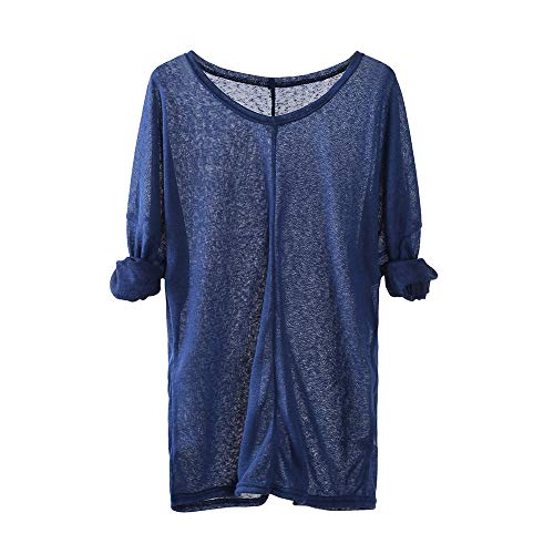 UFACE Femme T-Shirt Grande Taille Col Rond Top Large Tunique Casual Haut Blouse