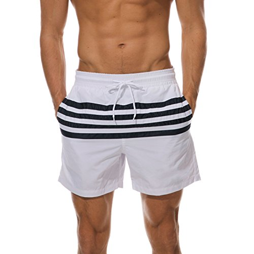 Arcweg Pantaloncini Uomo Ragazzo Calzoncini da Bagno Costumi Mare Surf Boxer 100% Poliestere Asciugatura Rapida Pantaloncini da Spiaggia Piscina