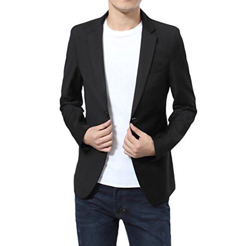 BOLAWOO Blazer Hombre Elegantes Casual Slim Fit Cuello Solapa Chaquetas Negocios Office Wear Chaqueta...