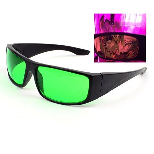 Indoor LED Grow Hydrokultur Licht Raum wachsen helle LED wachsen Lichter Gläser für Indoor Gardens Raum-Gläser Anti-UV- und Rotlicht-Schutzbrille gegen UV, IR Strahlen