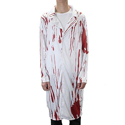 üm Terror-Krankenschwester und Doktor Kleidung Mit Blut Erwachsenen-Kostüm ()