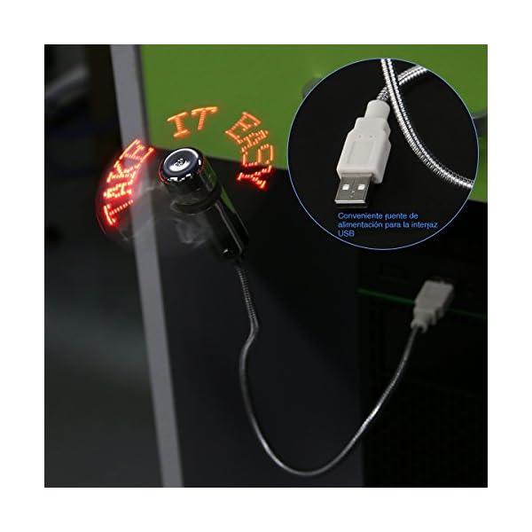 PIXNOR Flexible Mini USB LED destella ventilador programable palabras edici/ón para PC Laptop Notebook escritorio