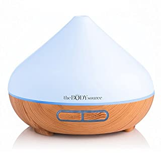 The Body Source 300ml Aroma Diffuser for Essential Oils with 7 Colour LED Lights