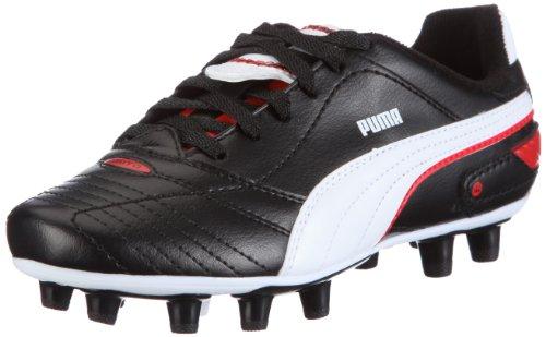 Puma Esito Finale i FG Jr 102014 Unisex - Kinder Sportschuhe - Fußball Schwarz/black-white-puma red