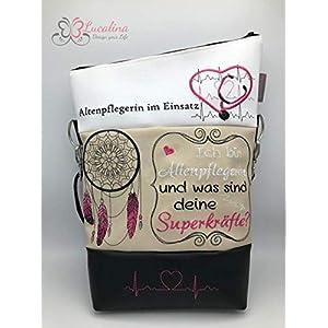 Handtasche Altenpflegerin Superkäfte Tasche Foldover Schultertasche