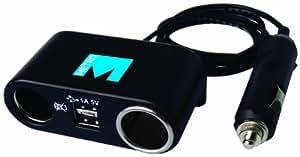 Metro In Car 12V 4-Way USB and Adaptor