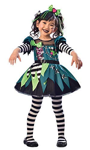 Mädchen Kleinkind Süß Frankie Little Monster Tv Buch Film Halloween Kostüm Kleid Outfit 3-6 Jahre - Blau, 3-4 Years