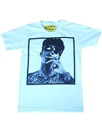 Mens T-shirt Funny Vintage Retro Wiz Khalifa Tshirt Finger Gangster All Sizes