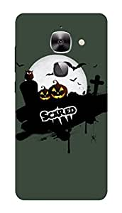 LeEco Le 2 Black Hard Printed Case Cover by Hachi - Scared Design