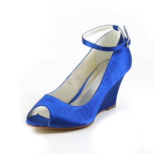 Jia Jia Wedding 121758 chaussures de mariée mariage Escarpins pour femme Bleu