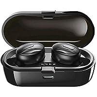 Auriculares inalámbricos Bluetooth,Auriculares Bluetooth 5.0 Sonido Estéreo con Micrófono Auricular Mini TWS In-Ear Auriculares Resistente al Agua con Caja de Carga para Correr Deporte,H20