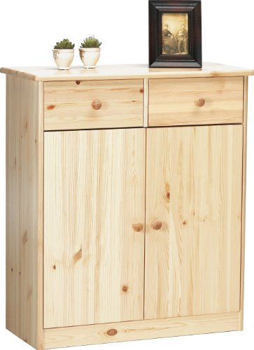 Steens 1780270119 Highboard Mario - Kiefer massiv - natur lackiert