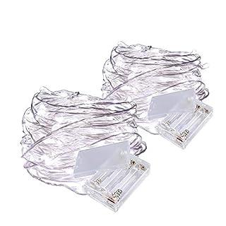 Allbuymall String Lichterkette LED Kaltweiß, 3 Meter/9,8ft 30er LEDs String Licht Lichterketten für die Dekoration Hochzeit Weihnachten Partei, 2 Stück