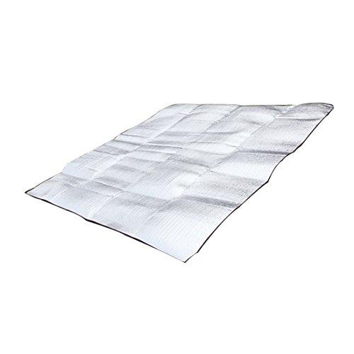 NoyoKere Tragbare Wasserdichte Faltbare Aluminium Eva Folie Isomatte für Camping Yoga Rasen Matte Kissen Feuchtigkeits Doppel Seite Picknickdecke Matte 1 * 2 Mt