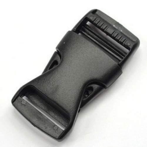 12 PCS schwarz Kunststoff 1 (25 mm) Flache Seite Release Schnallen -
