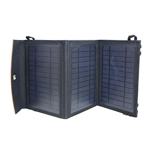 GRFH Solar-Ladegerät Mobile Power Portable Folding Pack 14 Watt 2A Dual-Ausgang USB-Handy Fast Ultra-Thin Weiche wasserdichte Solar Ladekabel, c - Portable Solar Power Packs
