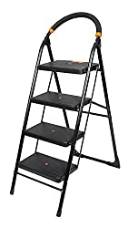 Truphe 4 Step Folding Ladder with Wide Steps, 4 steps ladder with 7 years warranty