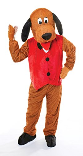 Bristol Novelty- Ac269 Costume de Chien Grosse Tête avec Gilet, Red, 44-inch Chest Size