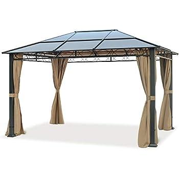 Amazon.de: OUTFLEXX hochwertiger Hardtop Pavillon in grau