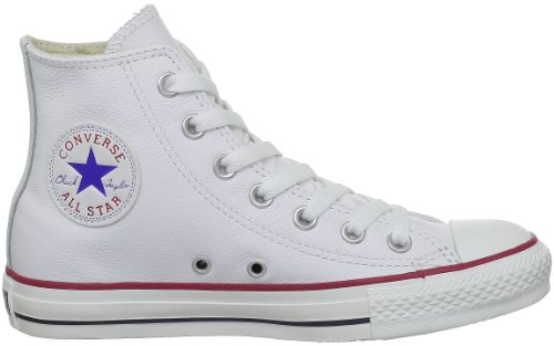 Converse Chuck Taylor All Star Core Lea Hi, Baskets mode mixte adulte Blanc