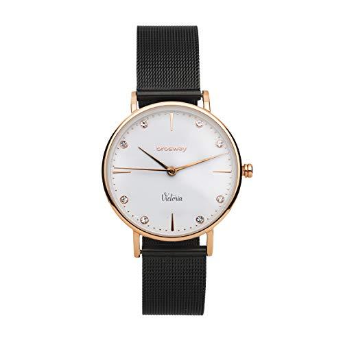 Reloj Mujer Brosway Victoria wvi15de Acero Bicolor Correa Punto Milano