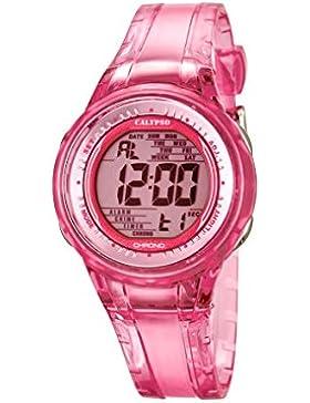 Calypso Damen-Armbanduhr Digital mit Digital Display und Pink Zifferblatt pink Kunststoff Strap k5688/2