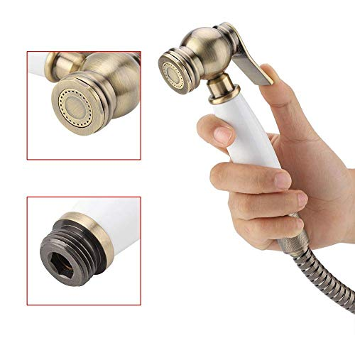 Bathroom Fixtures Abs Modern Toilet Shower Spray Gun With Holder Two Mode Toliet Bidet Faucet Bathroom Hardware Hand Held Portable Bidet Sprayer Rapid Heat Dissipation Shower Heads