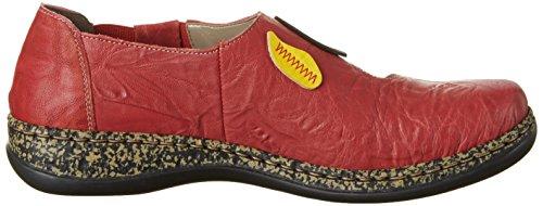 Rieker Damen 46373 Geschlossene Ballerinas Rot (rosso/yellow/pazifik/limette/aperol / 35)