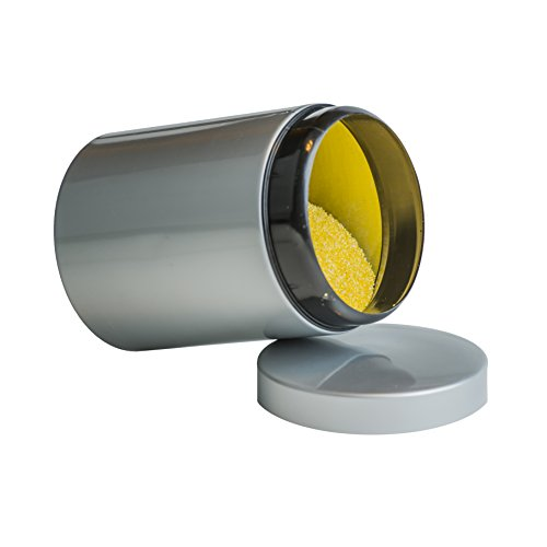 Boîte ronde de rangement en métal pour le thé, le café, le sucre de farine, chariot réservoir / boîte étanche à l'air