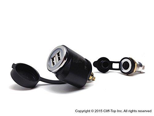Cliff-Top® 2.1 Amp BMW Motorcycle Hella (DIN) a adaptador USB (Mini)