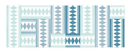 laroom-14170-alfombra-vinilica-de-cocina-baldosas-140-cm-color-turquesa