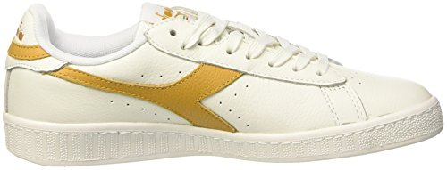 Diadora Unisex-Erwachsene Game L Low Waxed Pumps, 36 EU Bianco (Bianco/Beige Farro)