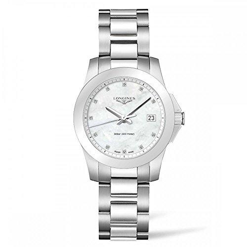 Longines Femmes de Conquête Swiss Diamant Accent Montre Bracelet en Acier Inoxydable 34mm l33774876par Longines
