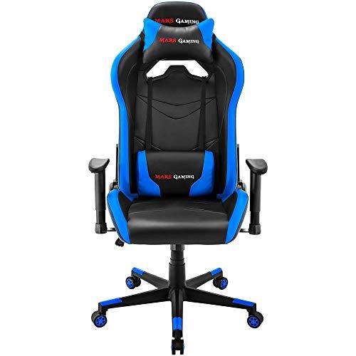 Mars Gaming Mgc3Bl Silla Gaming Profesional, Azul, XXL