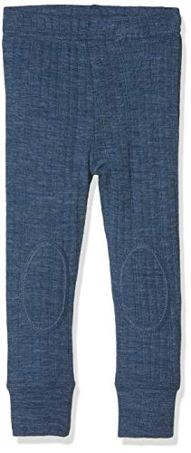 NAME IT Baby-Jungen Hose NMMWANG Wool Needle LONGJOHN NOOS, Blau (Ensign Blue), 92