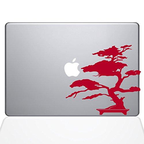 The Decal Guru 2095-MAC-15X-DR Bonsai Baum-Aufkleber, Vinyl, Rot, 38,1 cm (15 Zoll) MacBook Pro (2016 und Neuer) - Decal Baum Mac