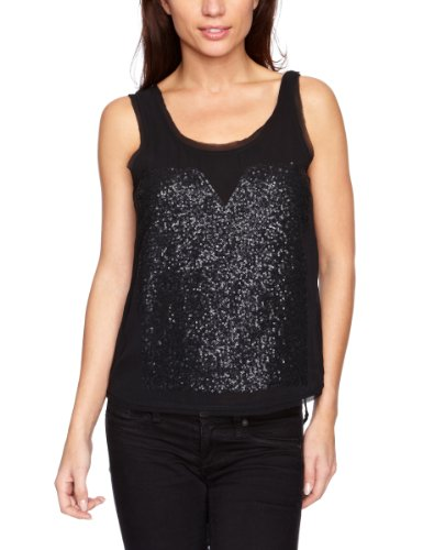 Selected  - Top smanicato, donna Nero (Black)